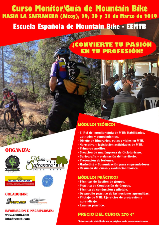 Curso de Guía Monitor de Mountain Bike